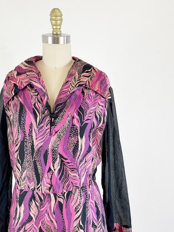 1970s disco dress / studio 54 dress / abstract dr… - image 6