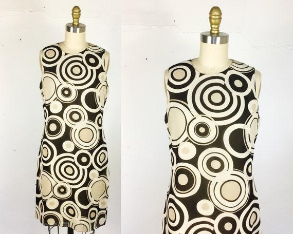 1990s dress // swirl print shift dress by Emanuel