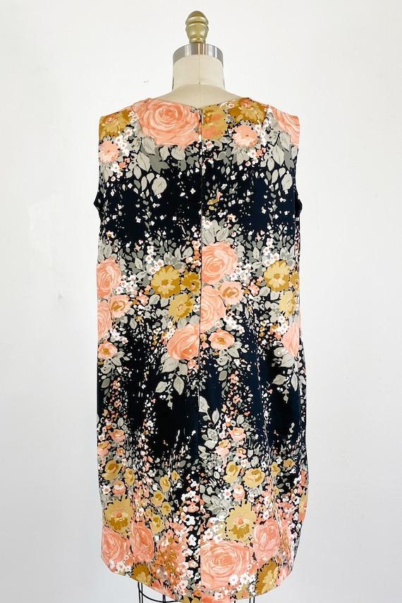 1960s Floral Dress / Shift Dress / Mod Dress / Si… - image 5