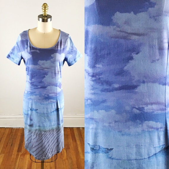 1990s Moschino dress // Moschino landscape shift d