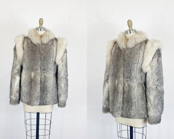 1970s fur coat - Rabbit Fur Coat - Fox And Rabbit