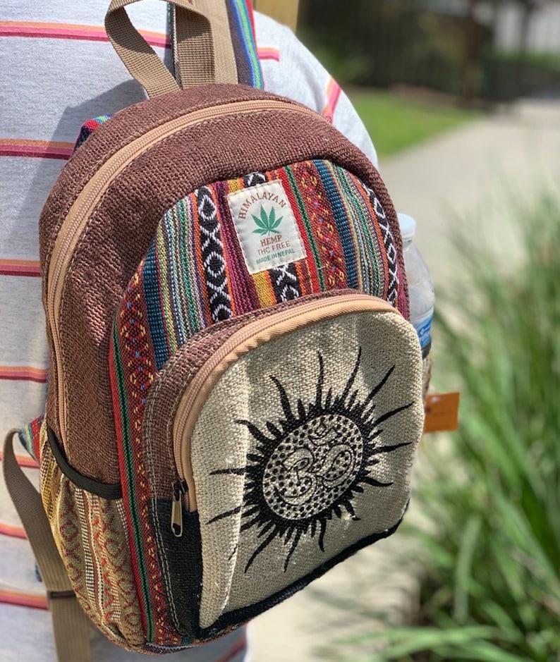 Vegan Medium Hemp Backpack