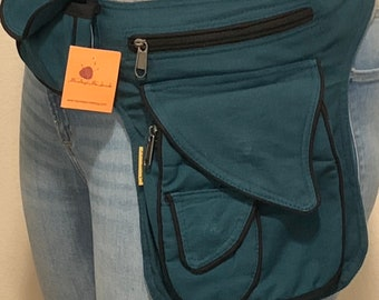 100% Cotton multi purpose waist pack Bag, Festival Belt Bag, Hip Bag | FAIR TRADE | Handmade with Love