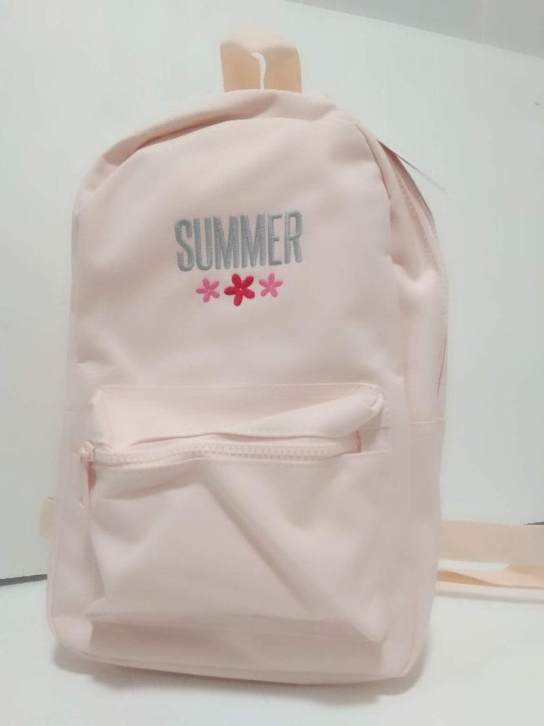 Personalised Pink Mini Fashion Backpack for School or Nursery Girls Pink fashion backpack toddler bag school or preschool bag