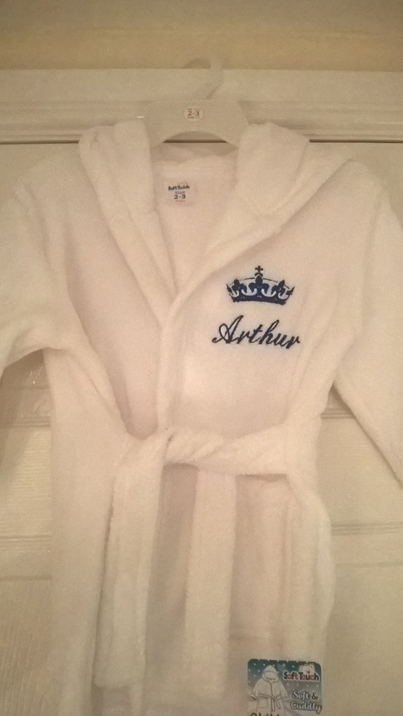 1ae0042461 Personalised Embroidered Dressing Gown Prince Princess