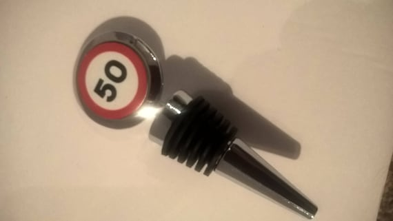 50th Birthday Wine Bottle Stopper Gift