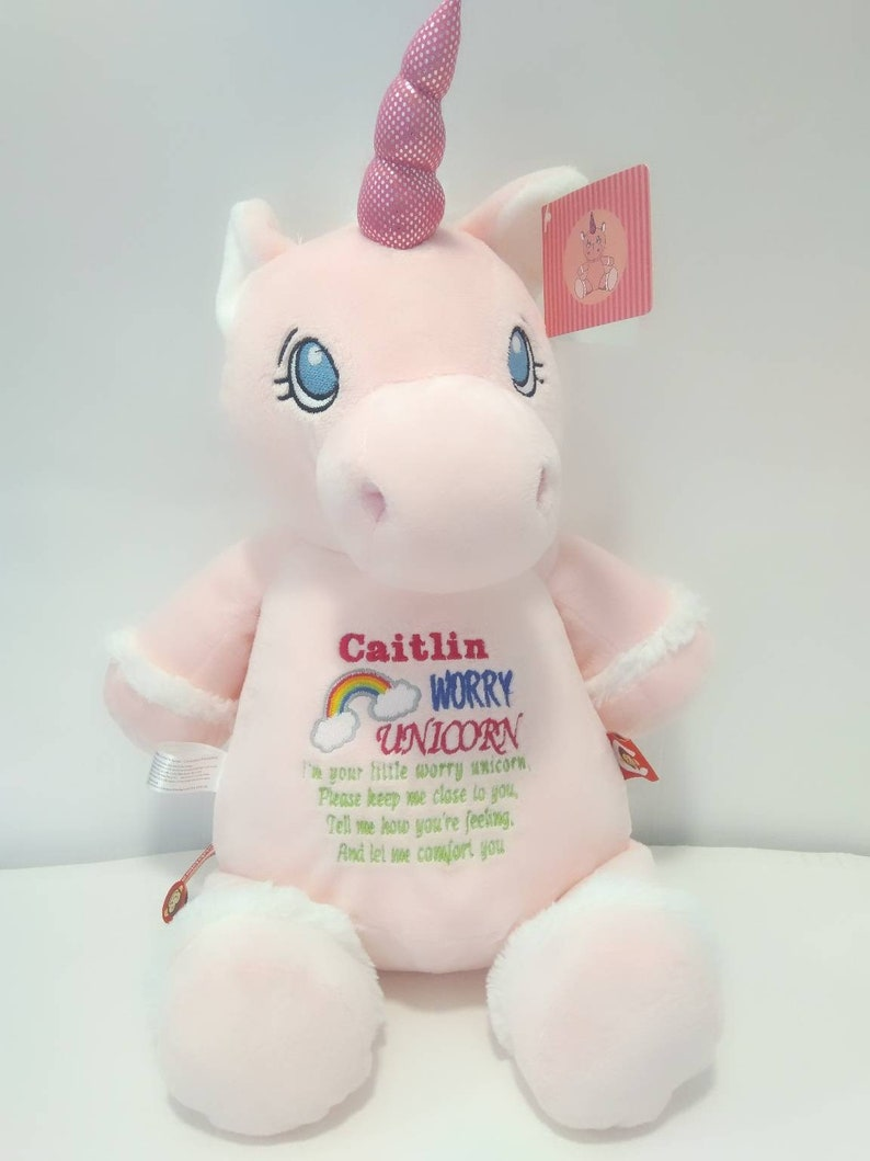 Personalised Plush I Belong To Kids Soft Doll Stuffed Toy Childrens Unicorn Gift