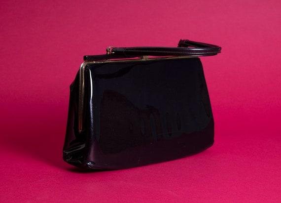 Vintage Tempra // Black Patent Leather // Kelly B… - image 4
