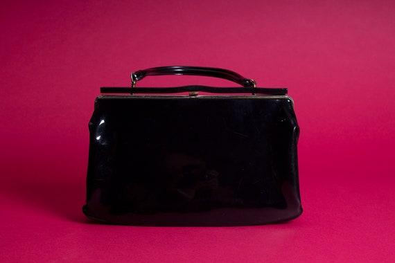 Vintage Tempra // Black Patent Leather // Kelly B… - image 1