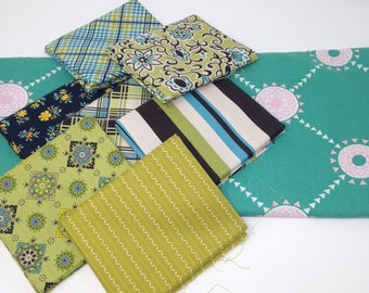 Blue Astonia by Denyse Schmidt Fabric Bundle #3