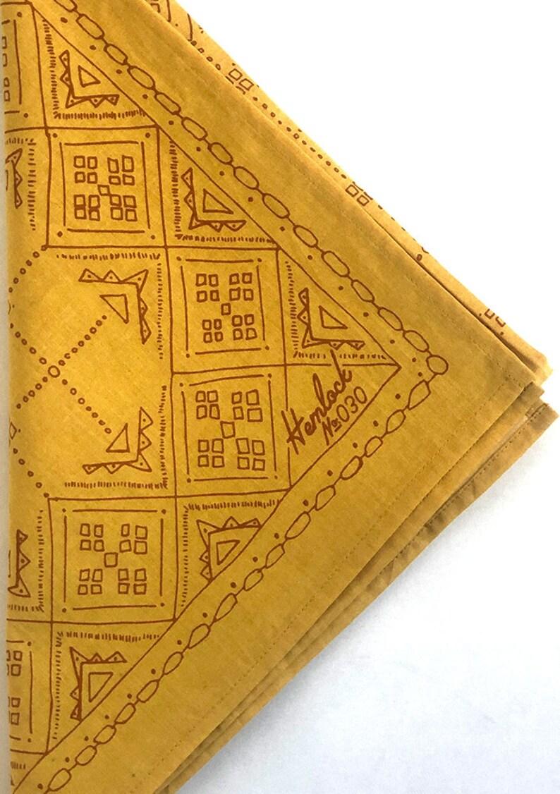 Hemlock Goods Goldie No 30 Premium Cotton Handmade Bandana gold with rust