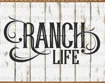 Country Svg - Ranch Life Svg File - Farm Svg - Rancher Svg - Svg Cuttables, Commercial use Clipart, Home Decor Svg, Cricut Svg Files Dxf BDJ