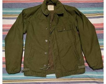 54139fba3e89d2 Vintage 1980 s U.S. Navy (A-2 Deck Jacket) - Small - Please see  measurements!