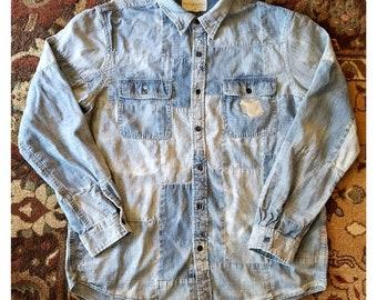 c32c461ae0a Ralph Lauren Denim and Supply - Dope Denim Patchwork Shirt - Men s XLarge