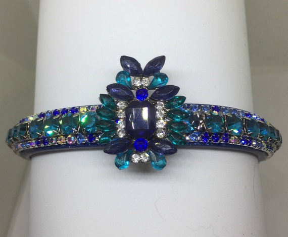 Bling Cutie Pie Pet Collars TM ~Sapphire & Aqua Blue Royalty~ UPSCALE Crystal Diamante Rhinestone Pet Dog Cat Collar USA