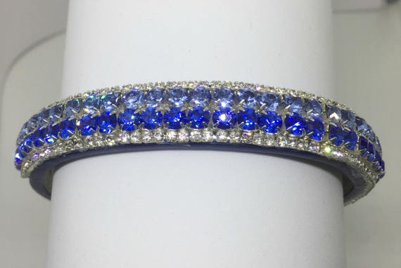 Bling Cutie Pie Pet Collars TM ~I Love U.S. Air Force~ Blue Crystal Diamante Rhinestone Pet Dog Cat Collar USA