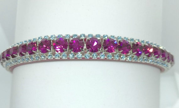 Barbie Pink & Aqua Crystal Bling Rhinestone Dog Cat Pet Collar + Unique JuJu Bean Bandanna   USA