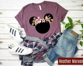 7d0d8555a Disney Shirt / Classic Mickey Ears Cherry Blossom Shirt / Disneyworld Shirt/  Disney Flower Festival Shirt / Disneyland Shirt