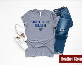 1d7e0865 Light it Up Blue Watercolor Shirt / Autism Awareness Shirt / LIUB Autism  Awareness Shirt / Teacher Shirt / Mom Shirt / Dad Shirt