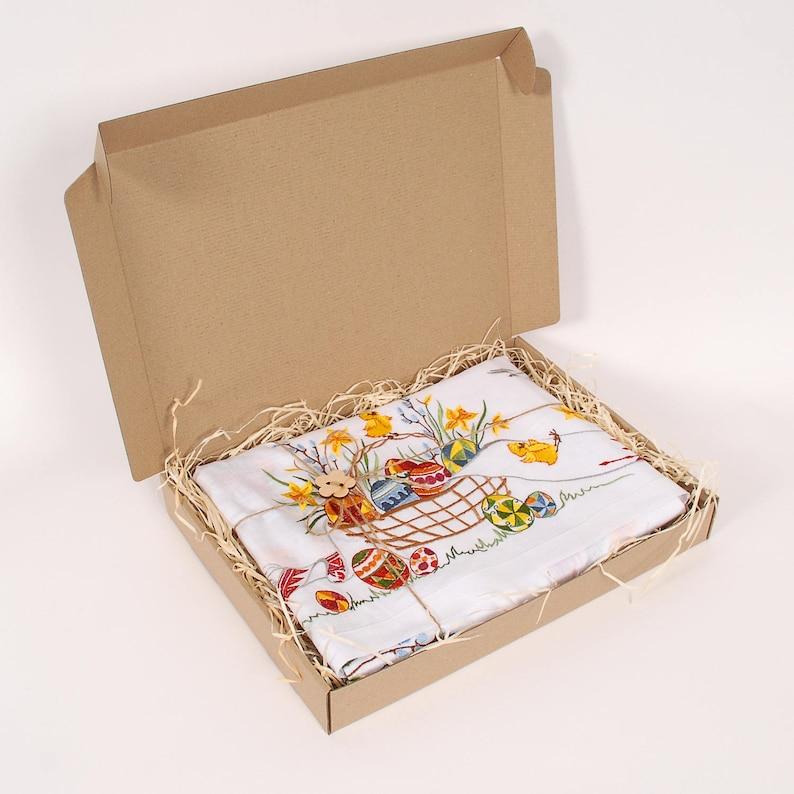 43x43 White  Easter  100/% European Linen Tablecloth Topper 110x110 cm