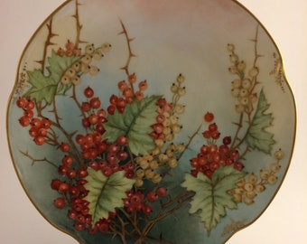 Berries and Thorns Vintage J/&C Louise Bavaria Plate