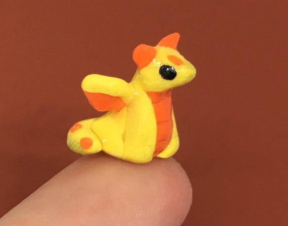 Image of: Kawaii Polymer Image Etsy Tiny Clay Dragon Sculpture Super Small Polymer Clay Etsy