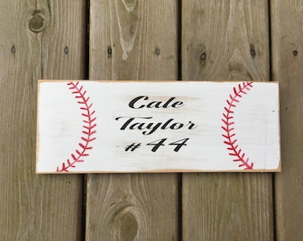 Custom baseball name sign