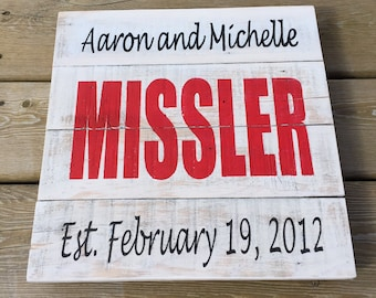 Custom Wedding Name and Date Sign