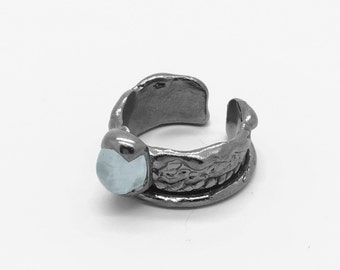 Tiny Pinky Ring with Moon stone
