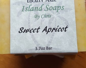 Sweet Apricot Soap, All Natural, Cold Process, Handmade and Handcrafted