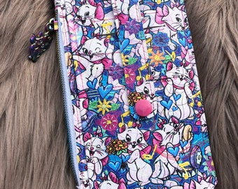 Marie/ Kitty Cat/ kitten/ handcrafted/ vinyl/wallet/purse pal/for her/gift/Christmas/travel/on the go