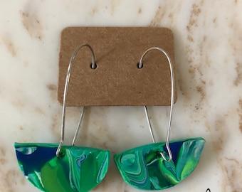Sea grass dangle earring