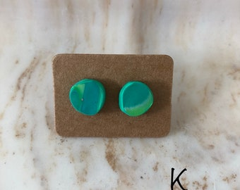 Sea Grass marbled earring pt 2