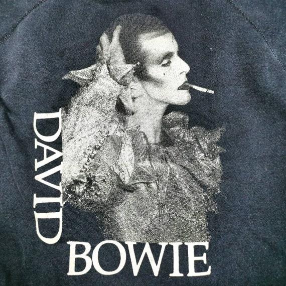 Super rare vintage 80s David Bowie raglan sweatshi