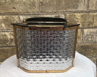 Majestic Silver Metal Weave Handbag, Vintage