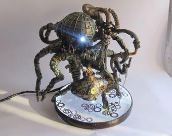 Steampunk Octopus night lamp