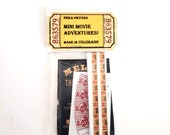 Miniature Movie Posters with Accessory Cutouts Set / 8 sets to choose from! 1:12 scale dollhouse collectable