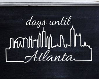 Days until Atlanta Custom Moving Countdown Vinyl Decal