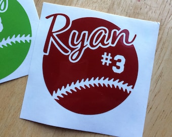 Customized Baseball or Softball Vinyl Decal