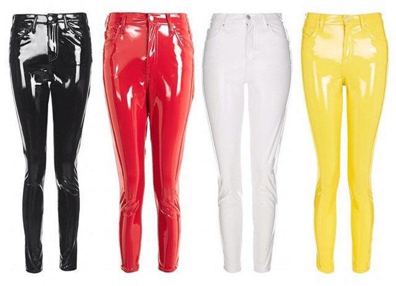 0fa7400fa0a238 PVC Vinyl Jeans Pants Leggings Women's Men's | Etsy