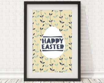 Happy easter quote, Easter decoration, Easter sign, Easter print, Spring printable, Spring print, Happy easter print, Easter home decor art