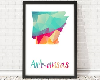 Arkansas State map, Arkansas State abstract map, Arkansas map poster, USA map, Arkansas map, PRINTABLE poster, Travel wall art, Arkansas art