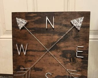 Compass and arrows string art