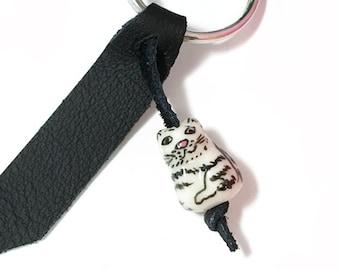 Cat Bead Keychain