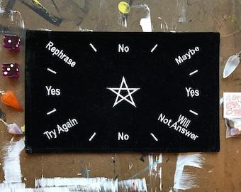 Black Velvet Scrying Mat Spirit Board Pendulum Magick Dowsing Divination Metaphysical Witchy Crystals Altar Self-love Love Gift Practice