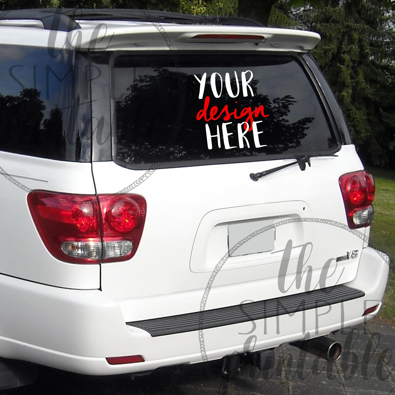Car Sticker Mock Up - Mary Rosh