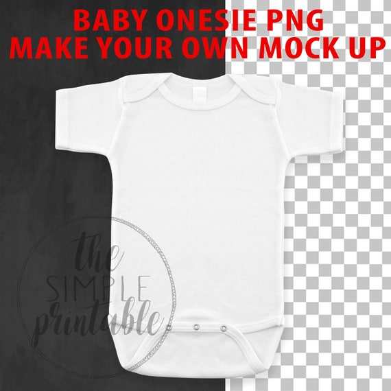 96e84e1c3 Blank White Baby Onesie PNG file baby clip art Baby Mock up | Etsy