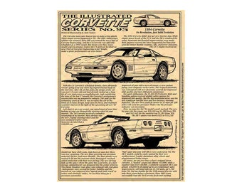 84b1a787fbaf 1994 C4 Corvette Production Car Art Print