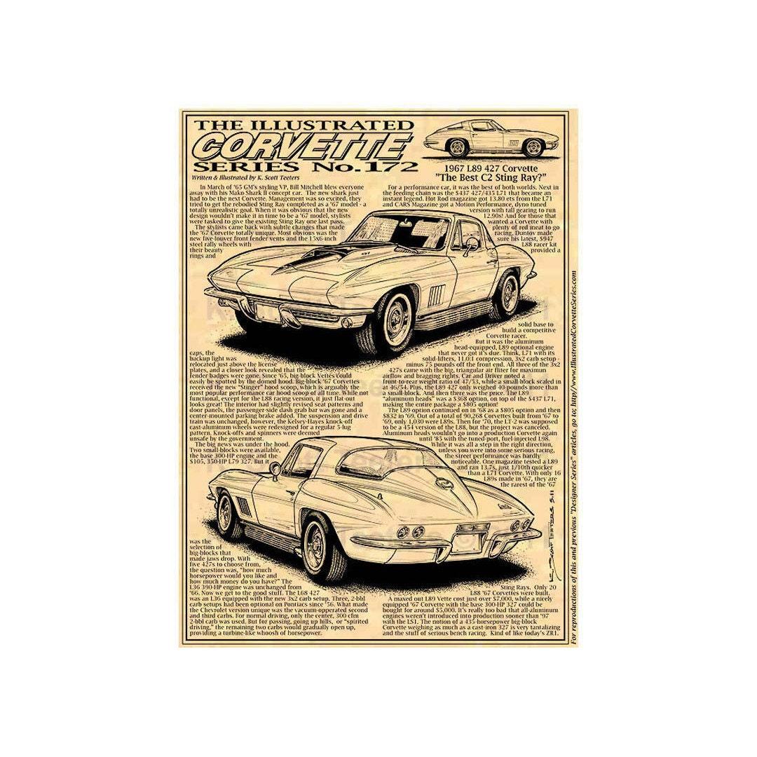 1967 L89 427 Corvette Car Art Print C2 1967 Sting Ray