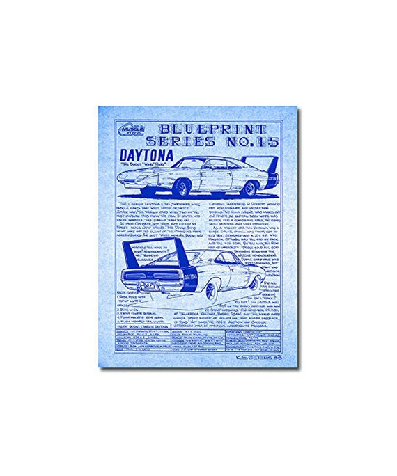 1969 charger daytona diazo blueprint series no 15 art print69 malvernweather Images